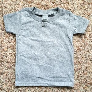 Gray Gildan Toddler Shirt